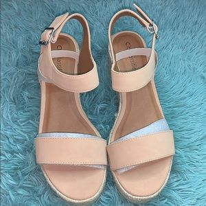 Nude Wedges 👡